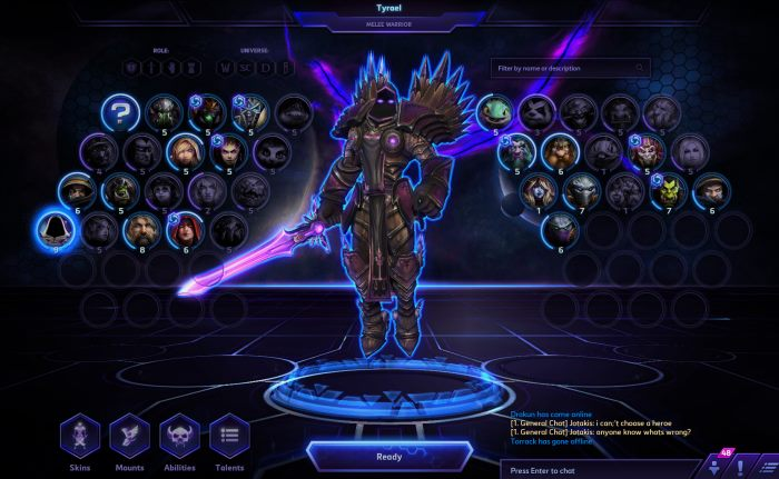 HotSCast New Heroes of the Storm Hero Select Screen