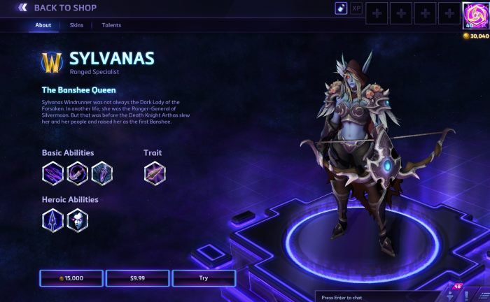 HotSCast Sylvanas Shop Page Heroes of the Storm